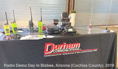 Bisbee Public Safety Radio Demo Day to 50 Fire Chiefs and support staff.